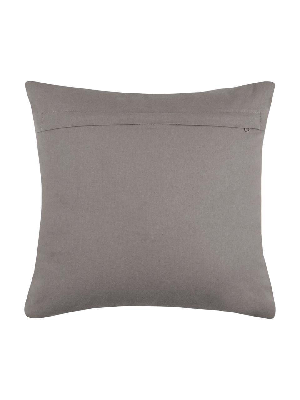 Kissen Tamber mit Hirschmotiv in Greige, mit Inlett, Bezug: 50% Baumwolle, 32% Wolle,, Grau, 40 x 40 cm