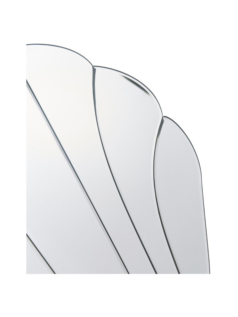 Rahmenloser Wandspiegel Helix in Muschelform, Spiegelfläche: Spiegelglas, Spiegelglas, 50 x 60 cm