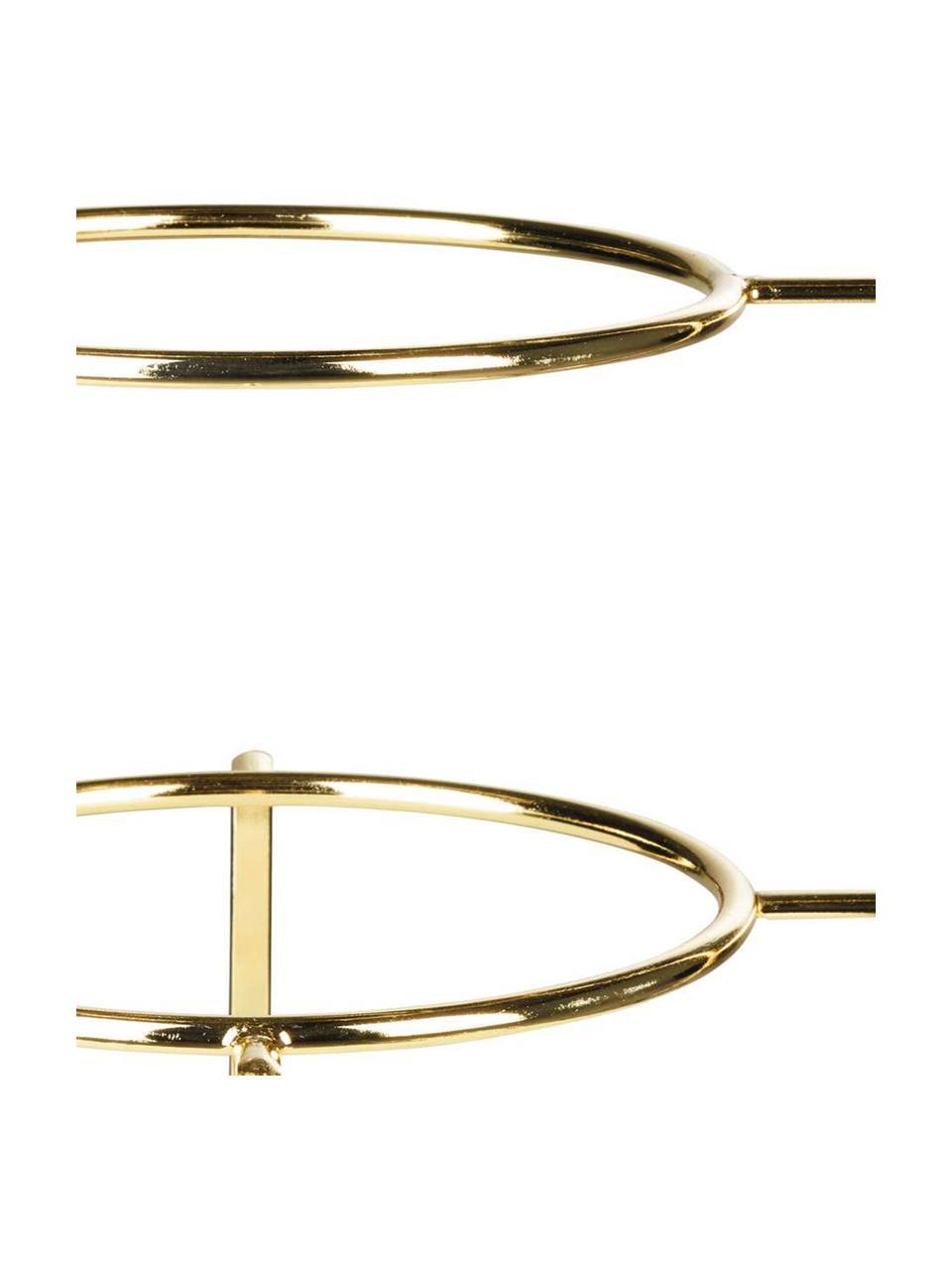 Etażerka Oco, Metal powlekany, Odcienie złotego, Ø 21 x W 37 cm