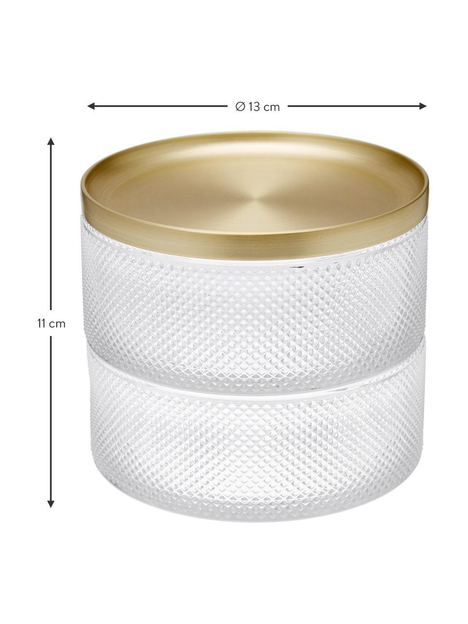 Boîte à bijoux Tesora, Couleur dorée, transparent