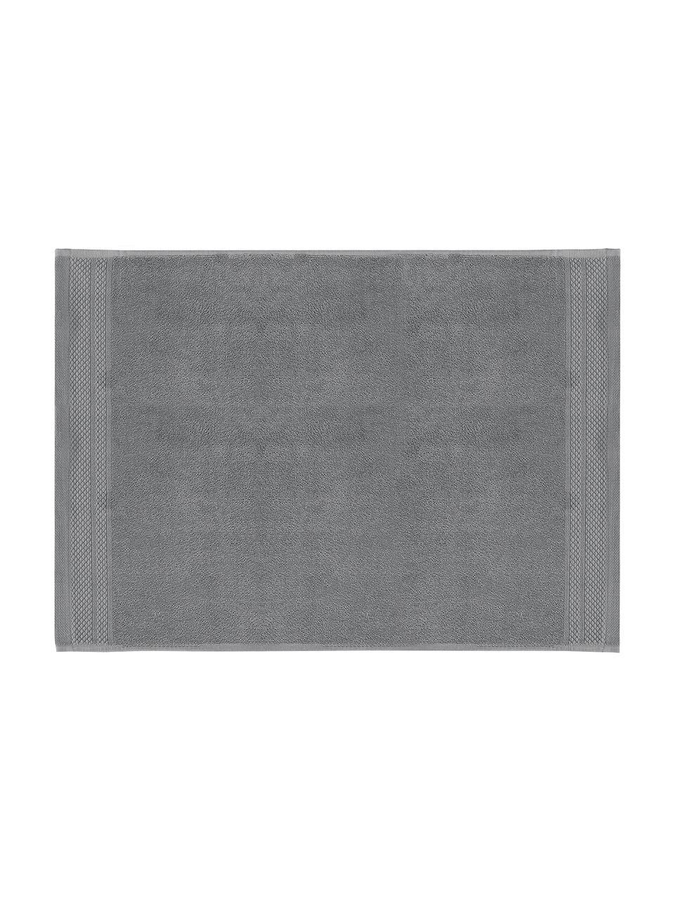 Badematte Premium, rutschfest, 100% Baumwolle, schwere Qualität 600 g/m², Dunkelgrau, 50 x 70 cm
