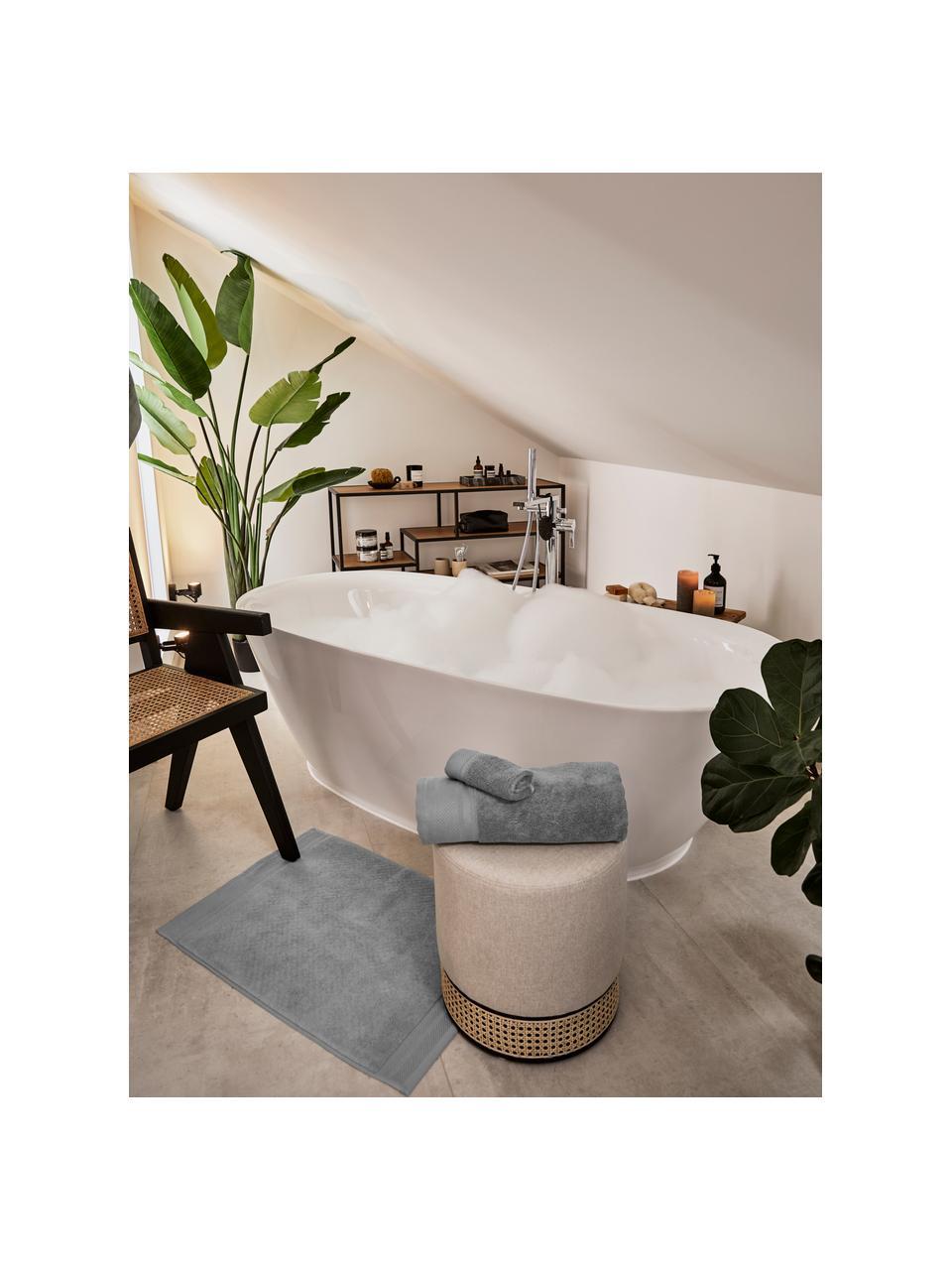 Tappeto bagno antiscivolo Premium, 100% cotone, qualità pesante 600g/m², Grigio scuro, Larg. 50 x Lung. 70 cm