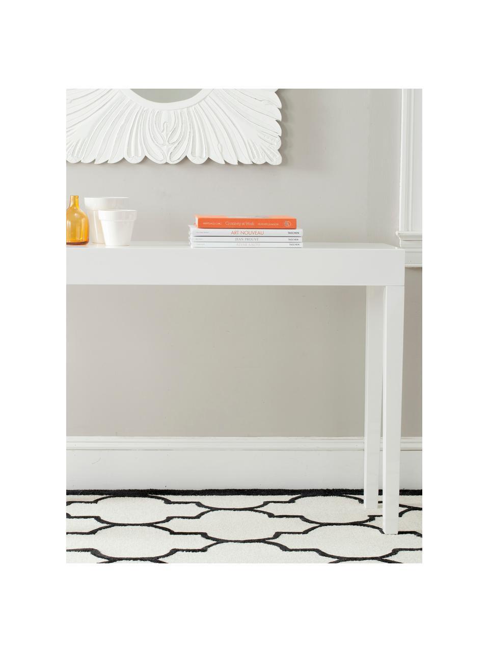 Ručně vyrobený konzolový stolek Kayson, Bílá