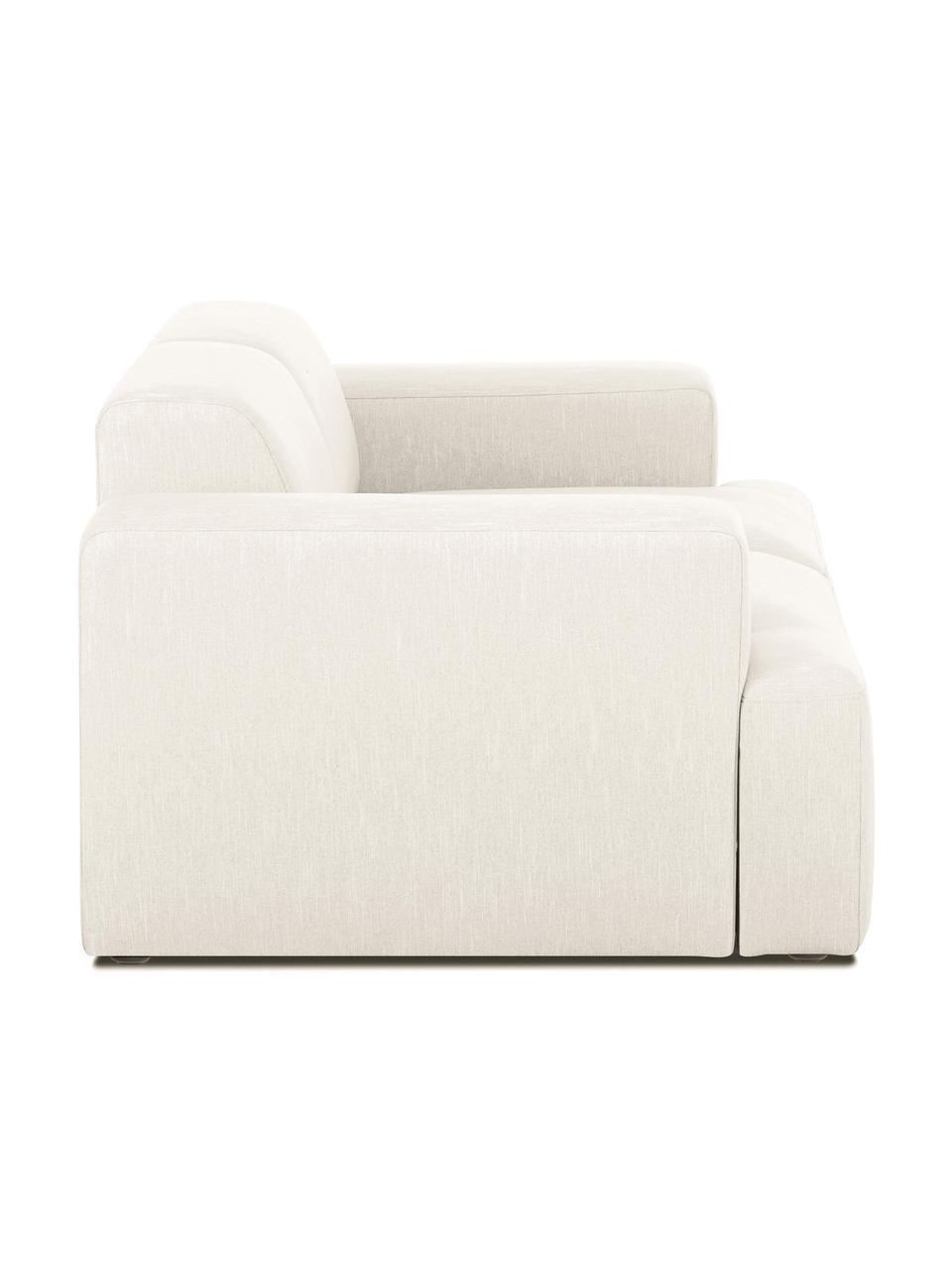 Sofa Melva (2-Sitzer) in Beige, Bezug: 100% Polyester Der hochwe, Gestell: Massives Kiefernholz, FSC, Füße: Kunststoff, Webstoff Beige, B 198 x T 101 cm