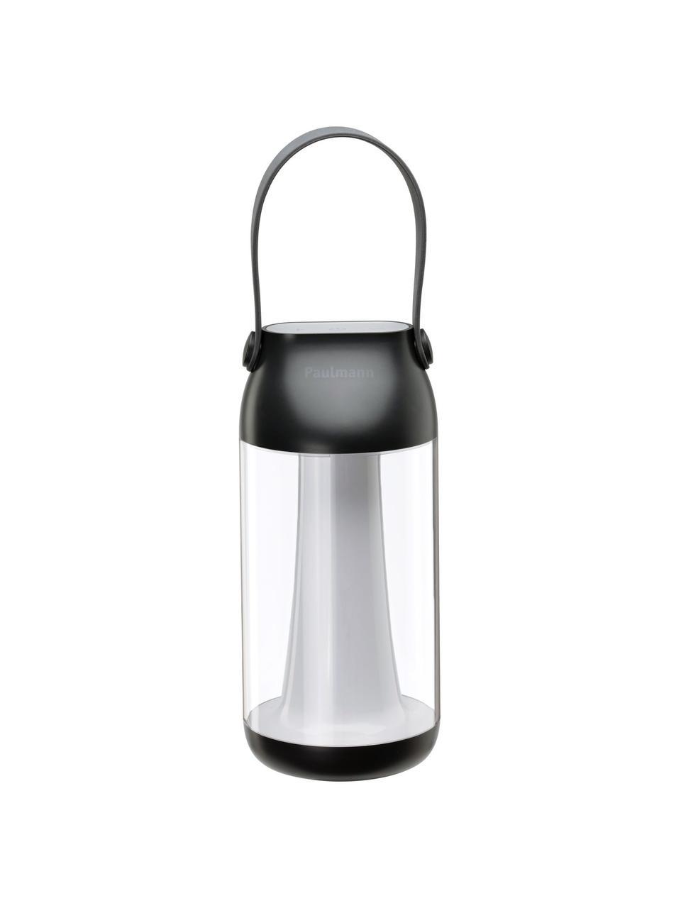 Lampada da tavolo dimmerabile da esterno Capulino, Paralume: materiale sintetico, Manico: materiale sintetico, Trasparente, antracite, Ø 8 cm