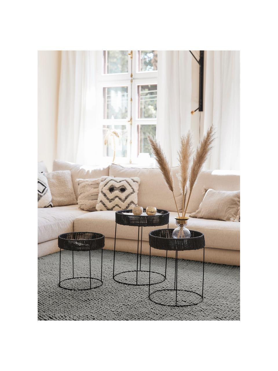Ręcznie szyty dywan z wełny Lovisa, Srebrnoszary, S 160 x D 230 cm (Rozmiar M)