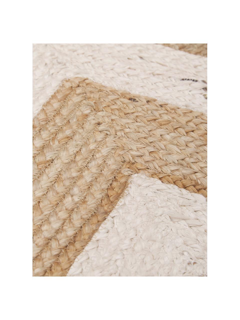 Handgemaakt juten vloerkleed Eckes, 100% jute, Beige, B 200 x L 300 cm (maat L)