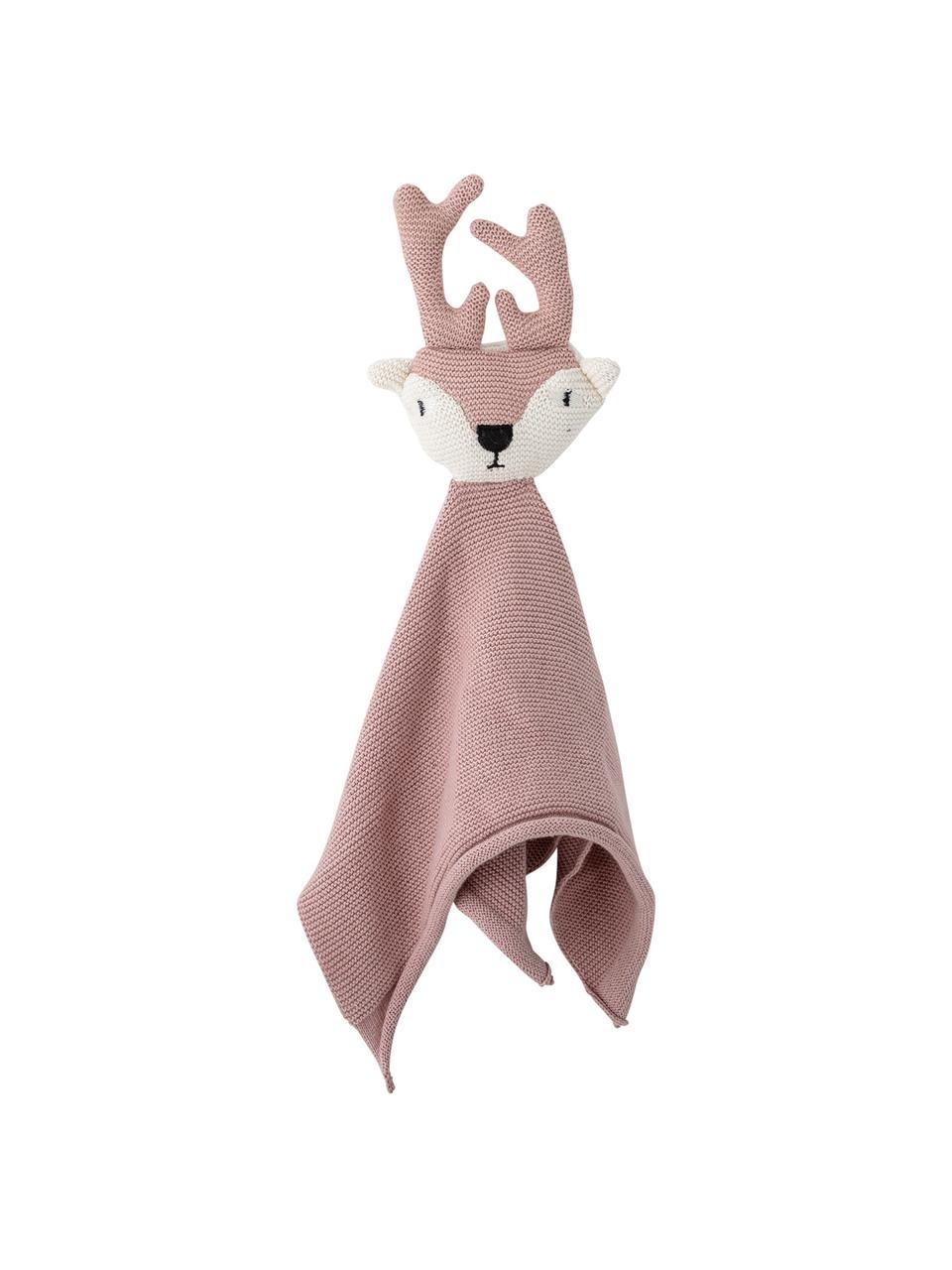 Schmusetuch Deer, Bezug: Baumwolle, Öko-Tex-zertif, Rosa, 30 x 36 cm