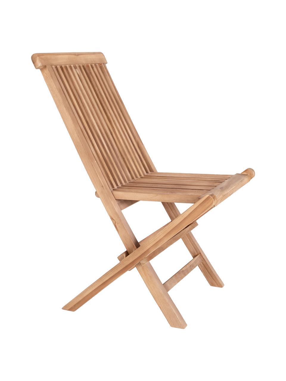 Składane krzesło ogrodowe z drewna tekowego Toledo, 2 szt., Drewno tekowe, Drewno tekowe, S 46 x G 62 cm