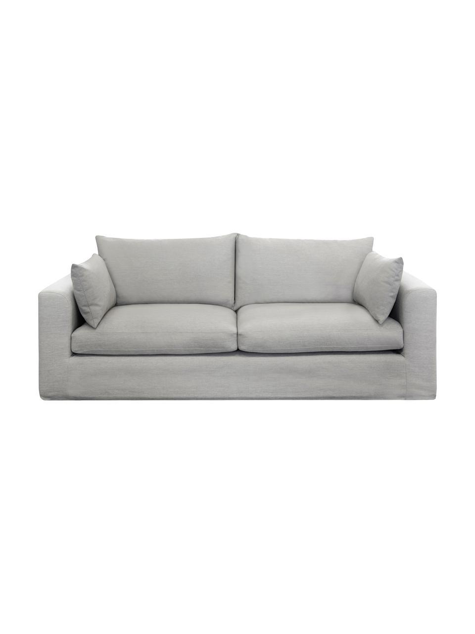Sofa Zach (3-Sitzer) in Taupe, Bezug: Polypropylen Der hochwert, Füße: Kunststoff, Webstoff Taupe, B 231 x T 90 cm