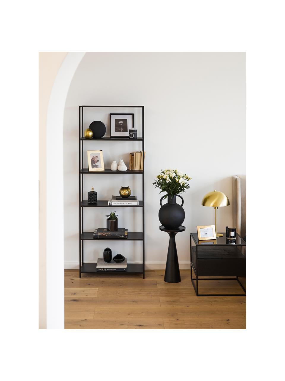 Wandrek Newton, Gepoedercoat metaal, Zwart, 70 x 185 cm