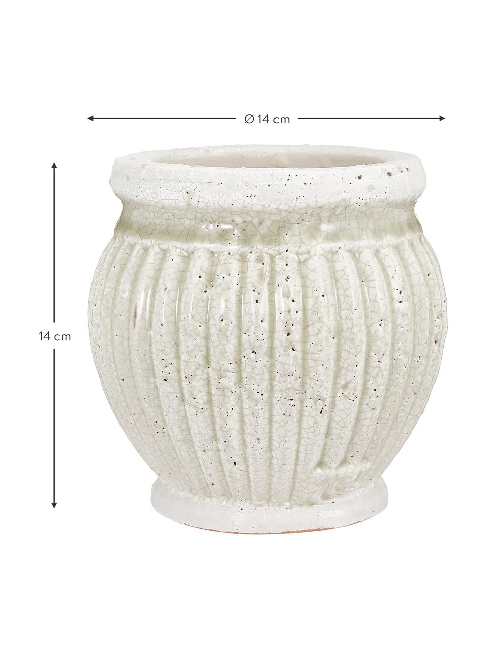Ręcznie wykonana osłonka na doniczkę z ceramiki Catinia, Ceramika, Brązowy, Ø 14 x W 14 cm
