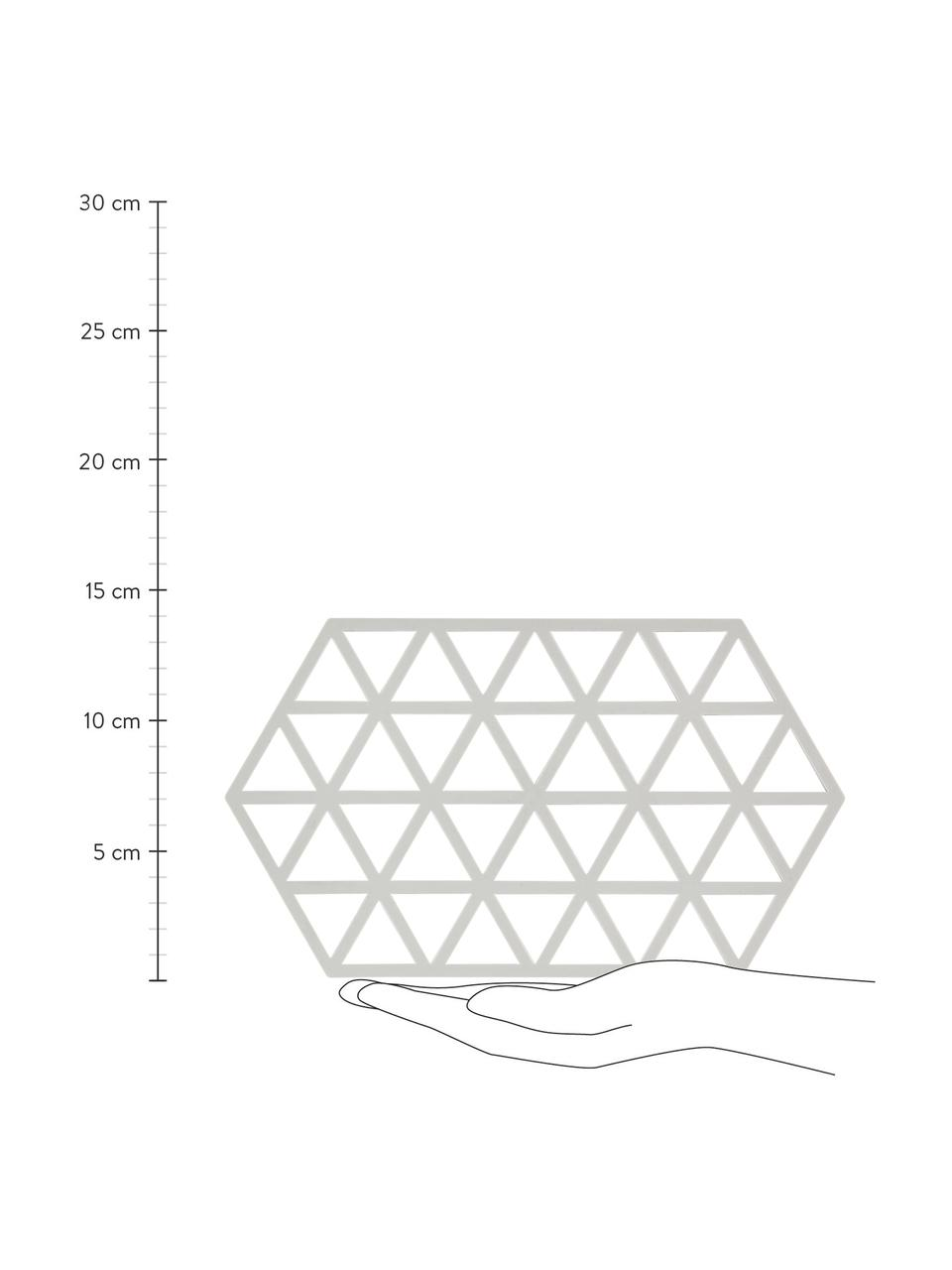 Silikon Topfuntersetzer Triangle in Hellgrau, Silikon, Hellgrau, 14 x 24 cm
