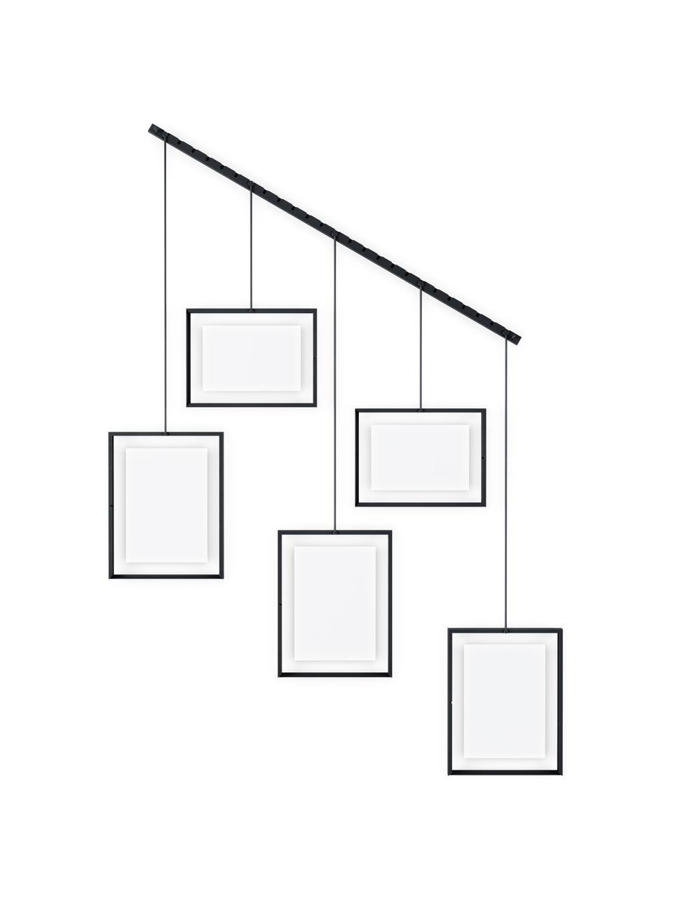 Portafoto multiplo da parete Exhibit, Metallo rivestito, Nero, Set in varie misure