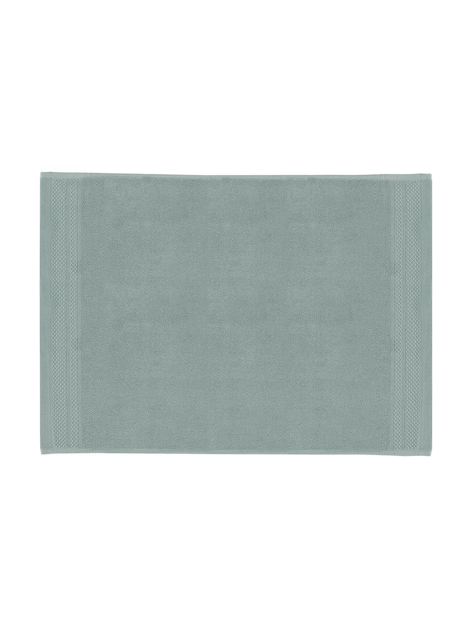 Tappeto bagno antiscivolo Premium, 100% cotone, qualità pesante 600g/m², Verde salvia, Larg. 50 x Lung. 70 cm