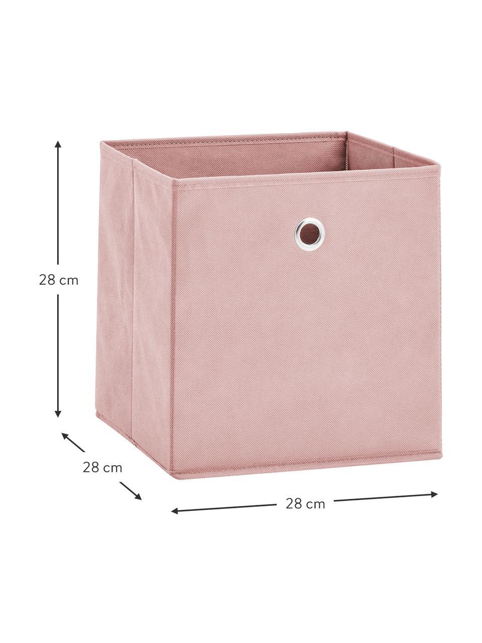 Boîte de rangement Lisa, Rose, blanc crème