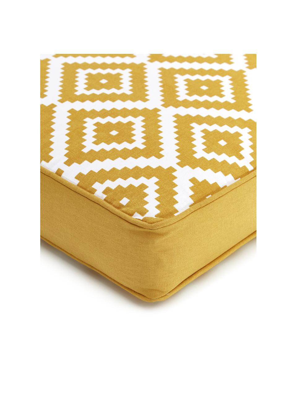 Wysoka poduszka na krzesło Miami, Żółty, S 40 x D 40 cm