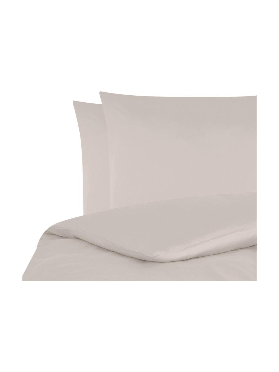 Katoensatijnen dekbedovertrek Comfort, Weeftechniek: satijn, licht glanzend, Taupe, 240 x 220 cm