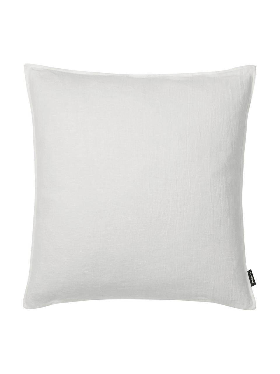 Lněný povlak na polštář slehce spraným efektem Sven, Tlumeně bílá