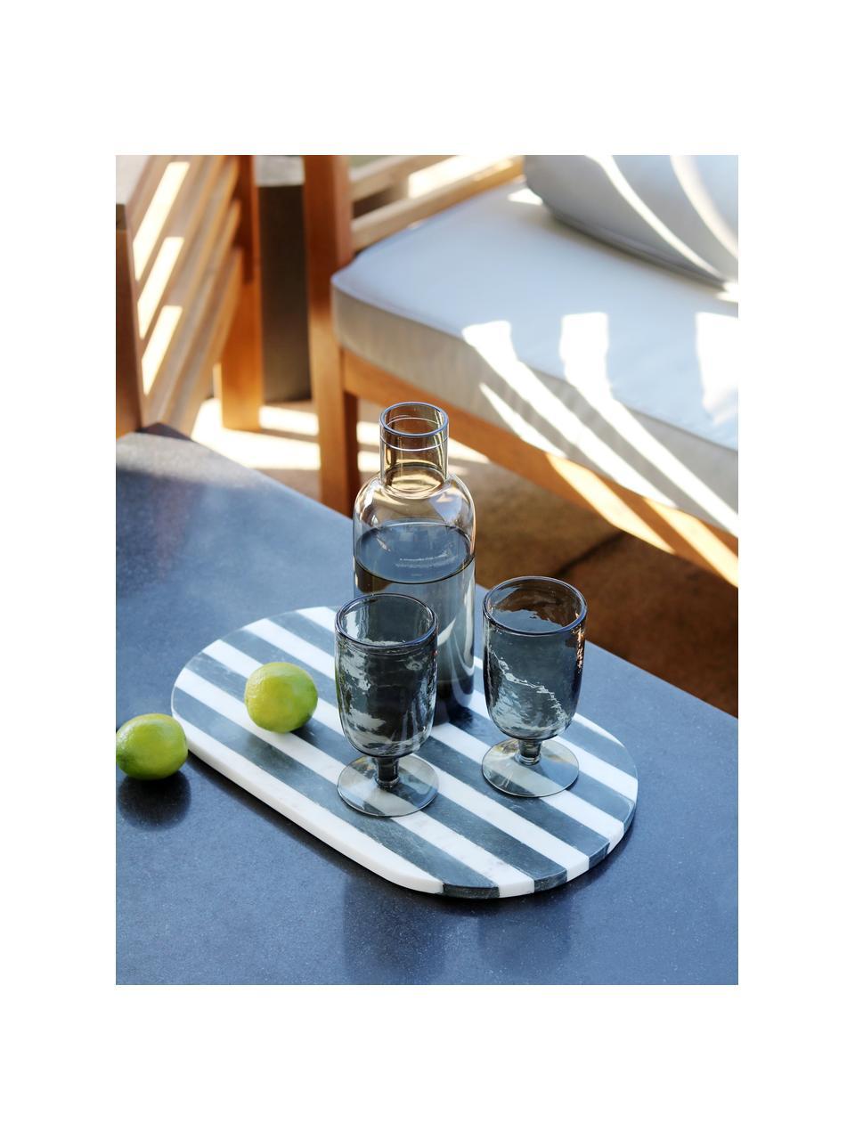 Karafka ze szkła Clearance, 1 l, Szary, transparentny, W 25 cm