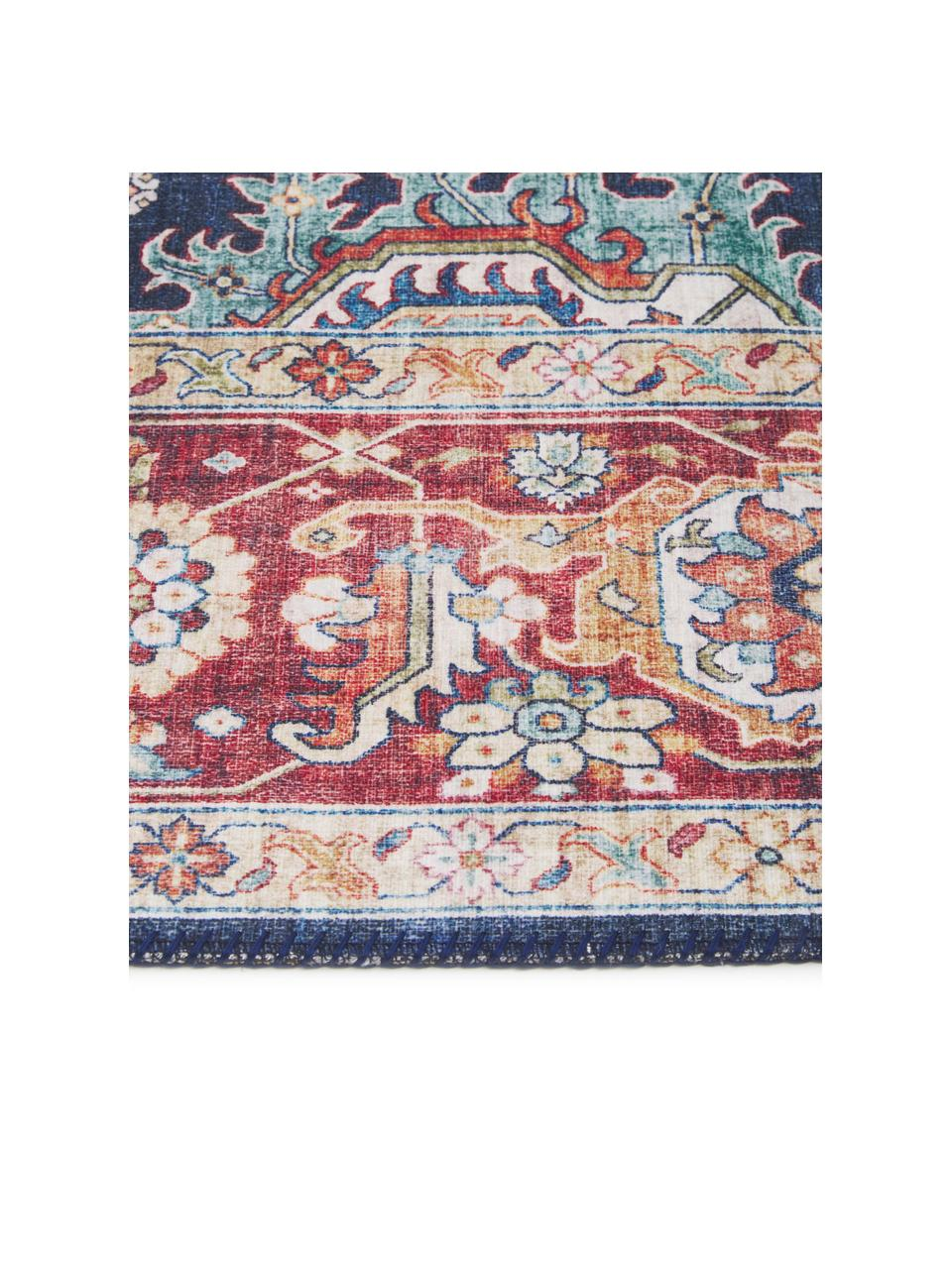 Dywan w stylu vintage Sylla, 100% poliester, Niebieski, czerwony, S 200 x D 290 cm (Rozmiar L)