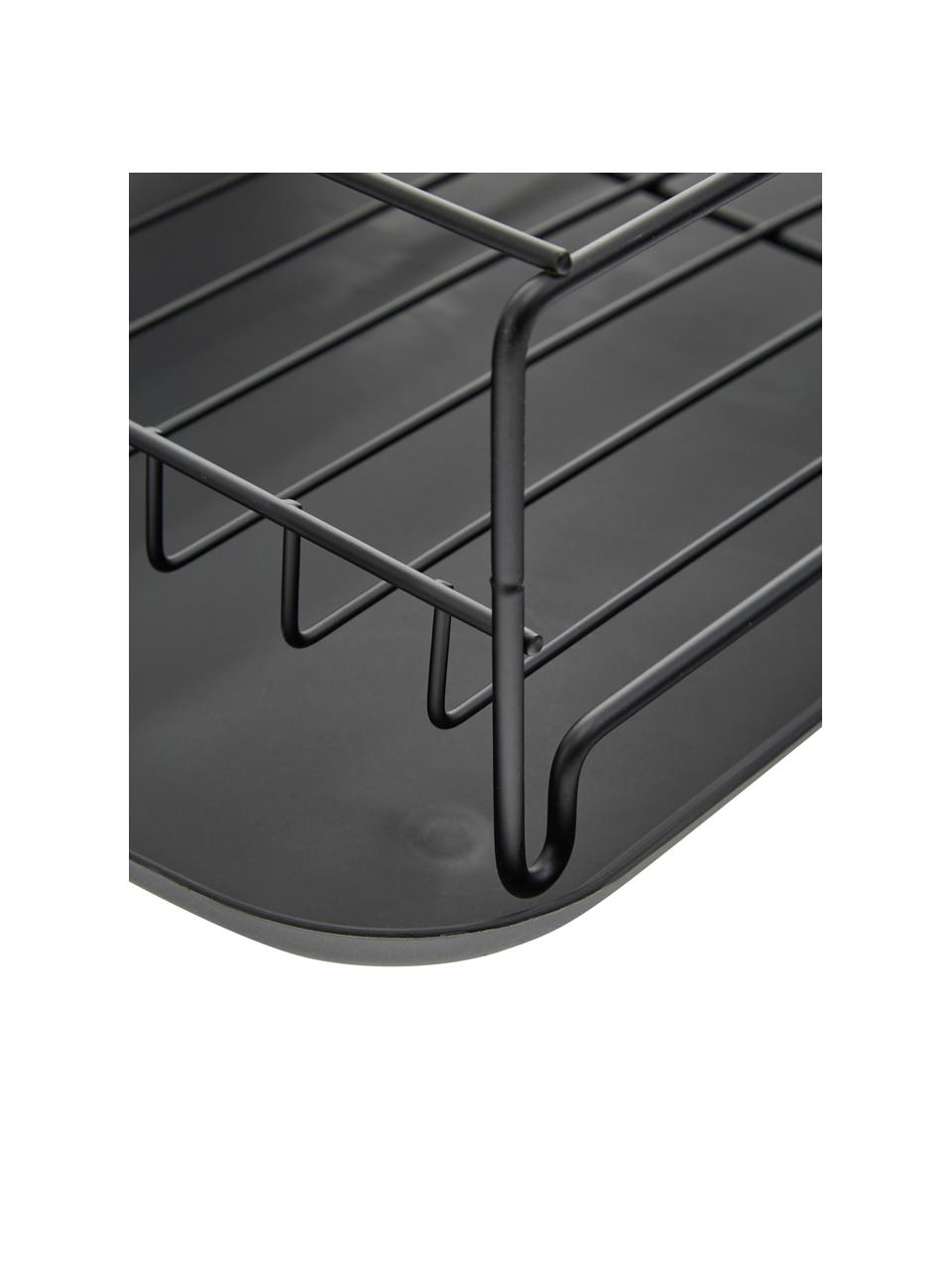 Suszarka do naczyń Discha, Stelaż: metal powlekany, Czarny, S 42 x W 12 cm