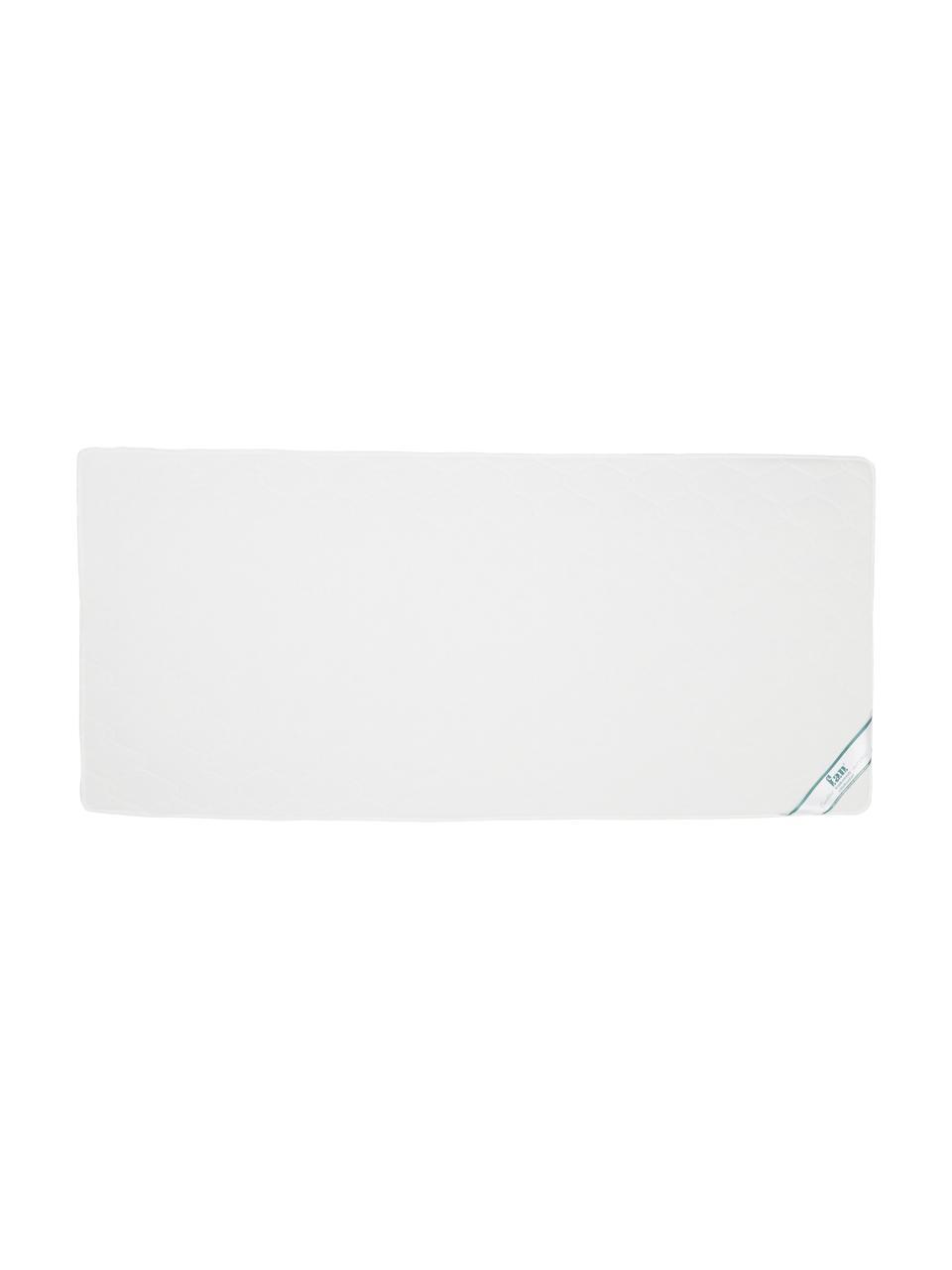 Materasso a molle insacchettate Happy, Rivestimento: doppio jersey (100% polie, Bianco, 140 x 200 cm