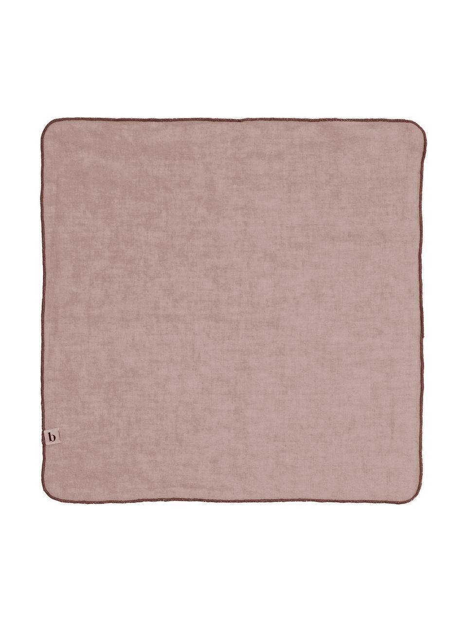 Tovagliolo in lino Gracie 2 pz, 100% lino, Rosa, Lung. 45 x Larg. 45 cm