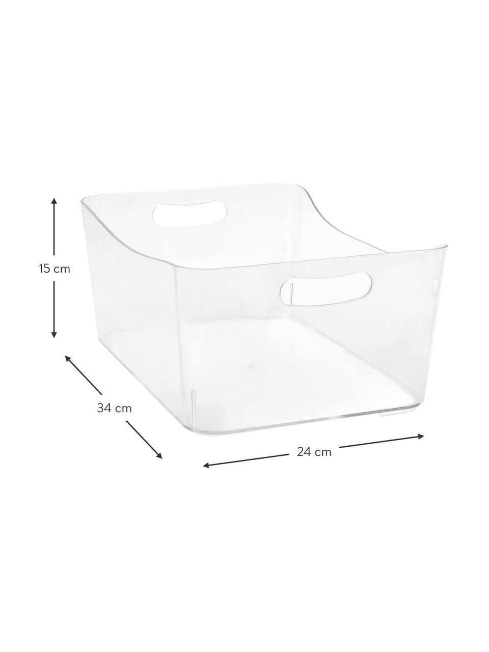 Boîte de rangement transparente Laga, Transparent