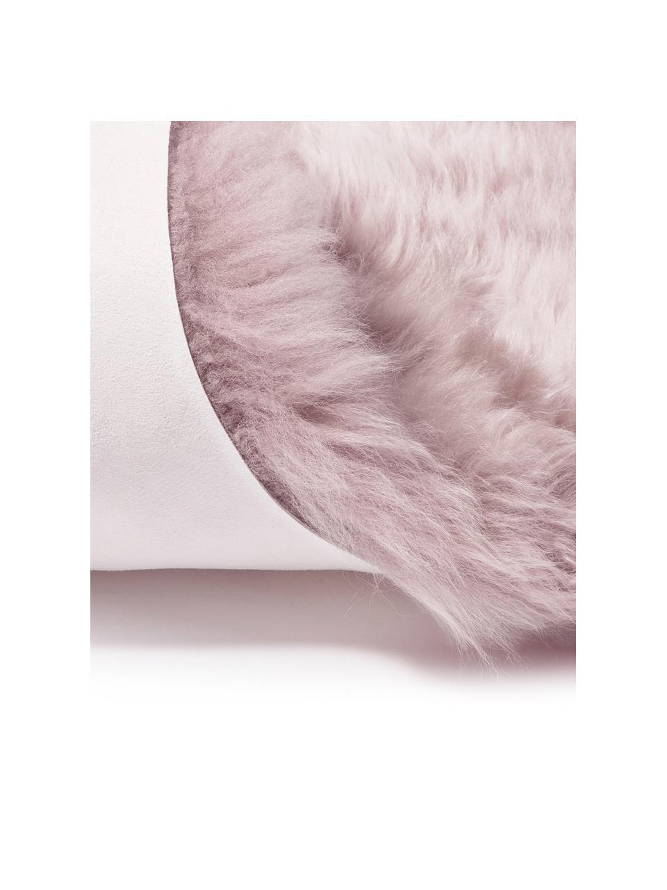 Schaffell Oslo, glatt, Flor: 100% Schaffell, Rosa, 60 x 90 cm