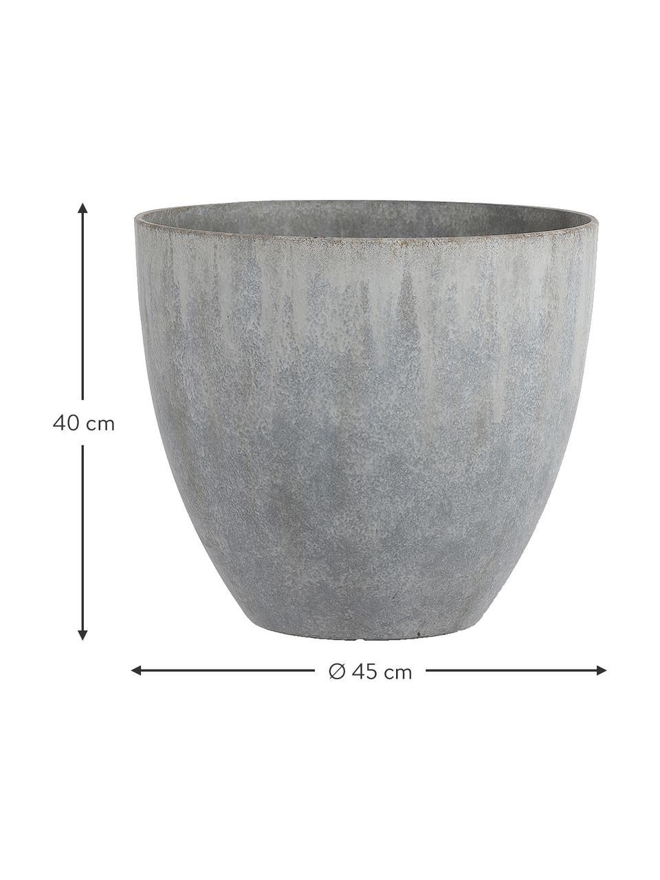 XL Pflanztopf  Bravo, Kunststoff, Grau, Ø 45 x H 40 cm