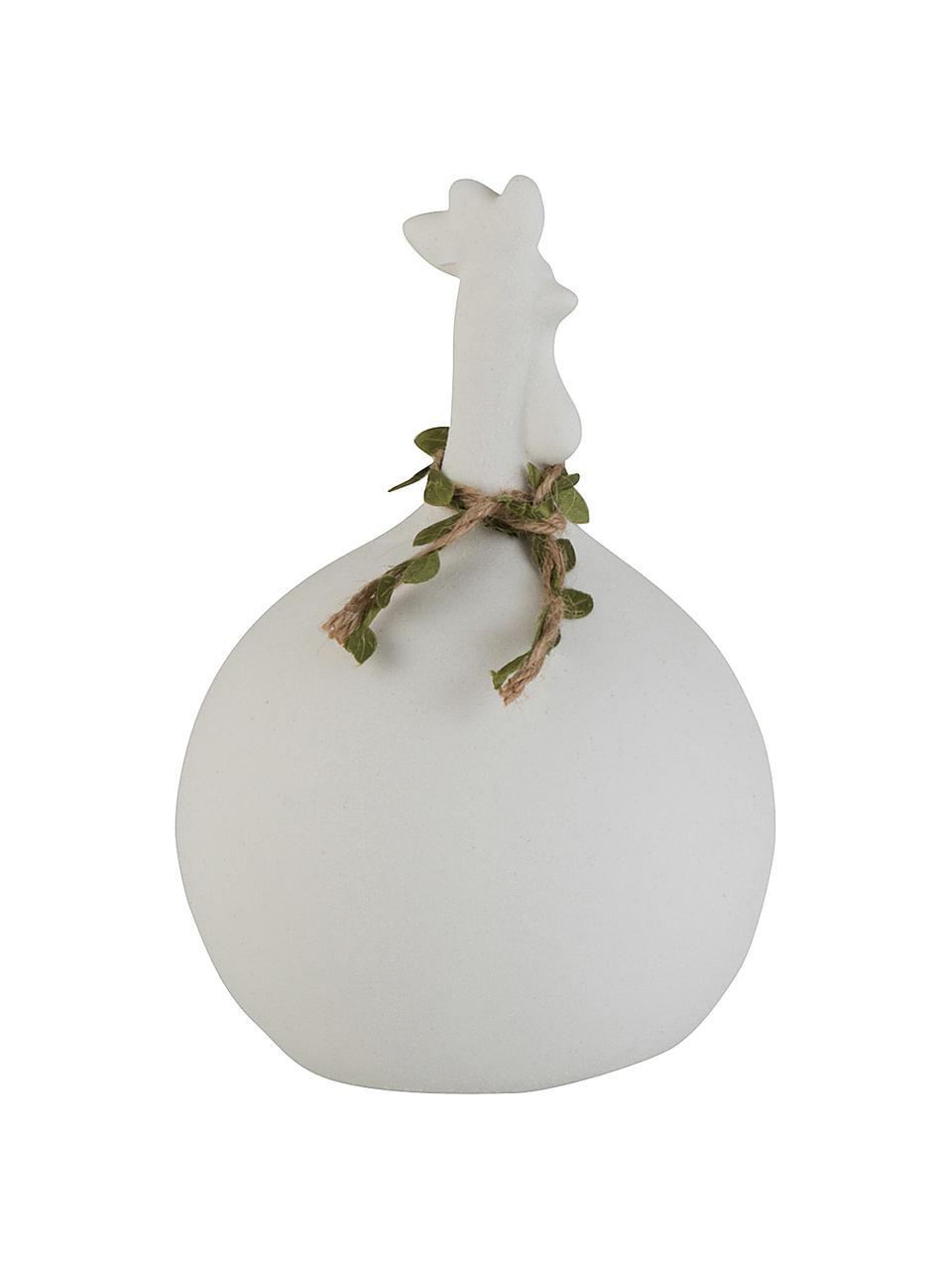 Deko-Objekt Chicken, Steingut, Weiß, Ø 14 x H 21 cm