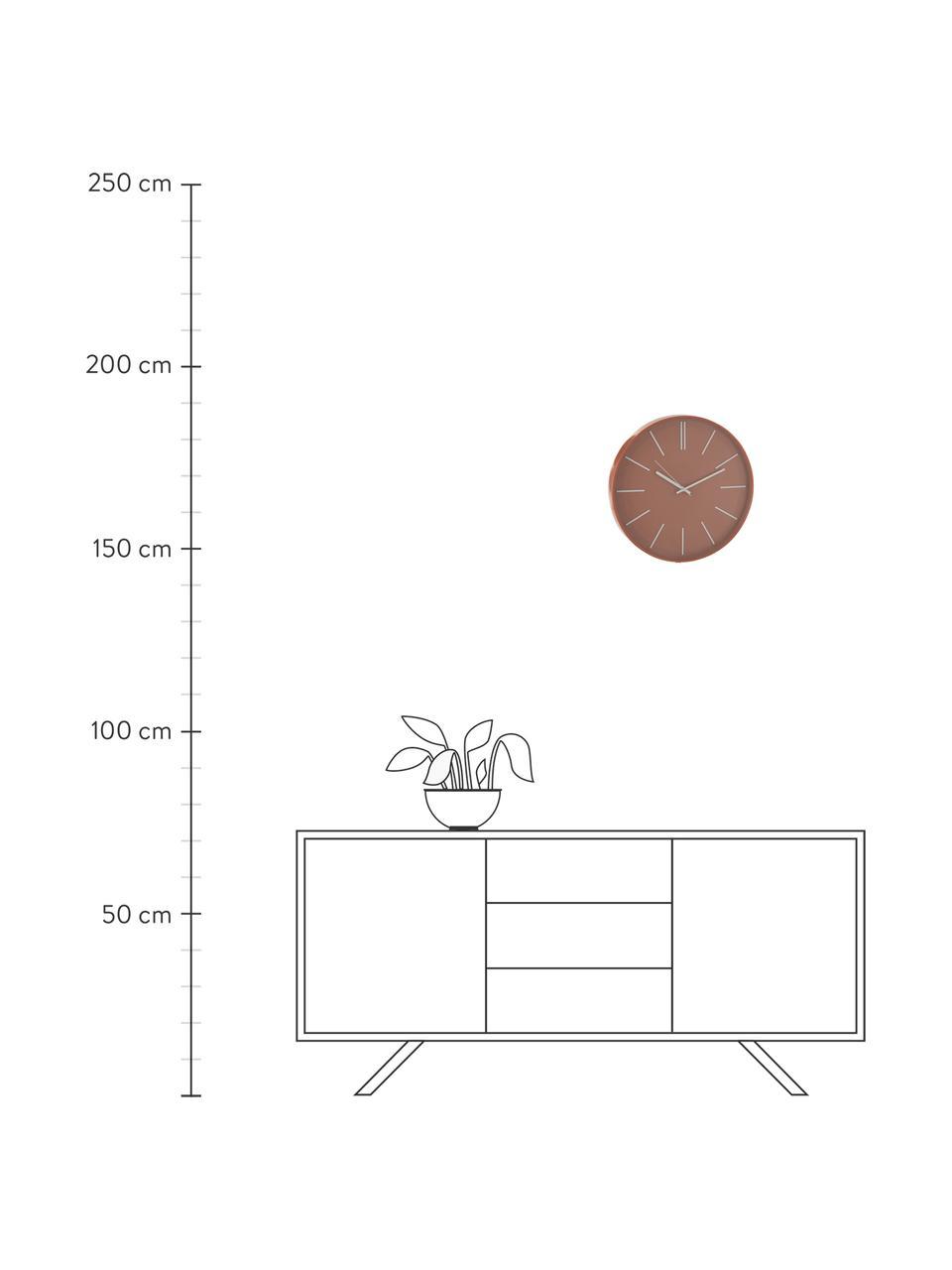 Zegar ścienny Alex, Tworzywo sztuczne, Terakota, Ø 41 cm