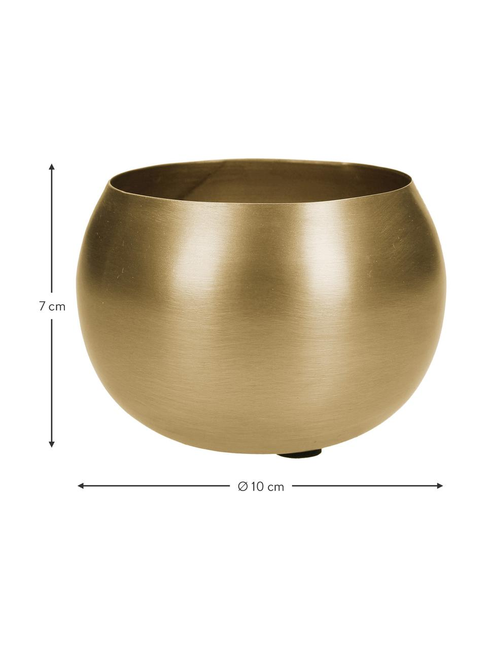 Portavaso in metallo Pat, Metallo rivestito, Ottonato, Ø 10 x Alt. 7 cm