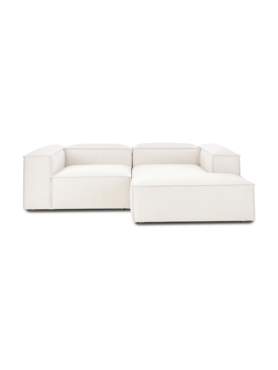 Canapé d'angle modulable beige Lennon, Tissu beige