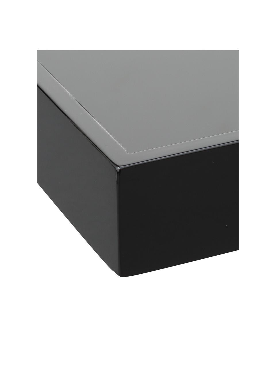 Vysoce lesklý tác Hayley, různé velikosti, Černá Spodní strana: černá