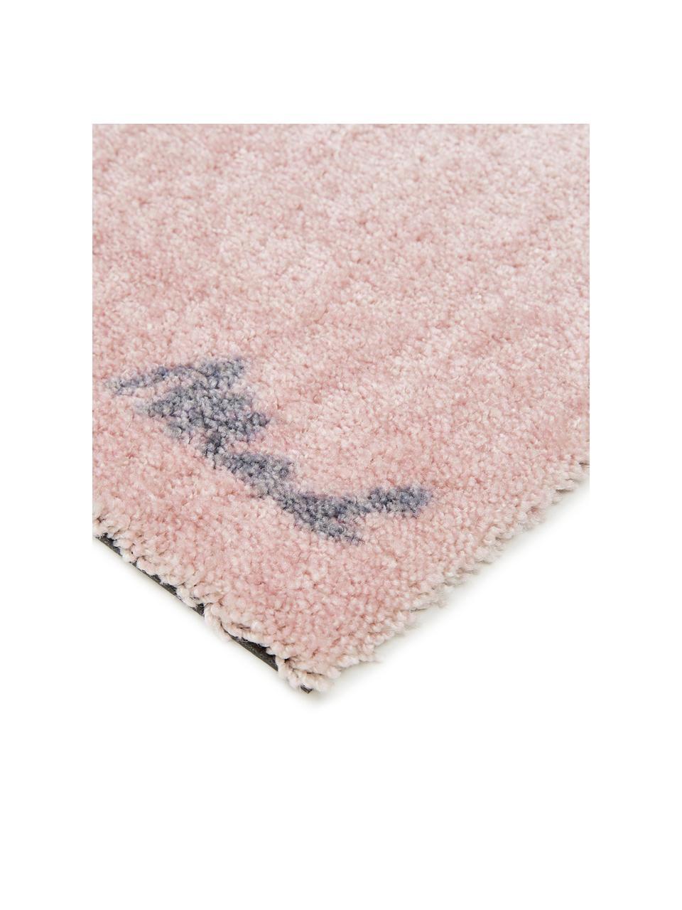 Zmywalna wycieraczka z poliamidu Chantal, Poliamid, Blady różowy, S 50 x D 75 cm