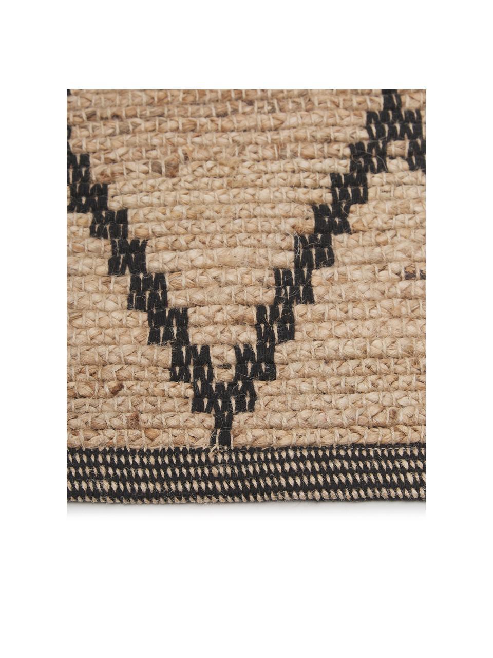 Zerbino in juta fatto a mano Atta, 100% juta, Beige, nero, Larg. 50 x Lung. 80 cm