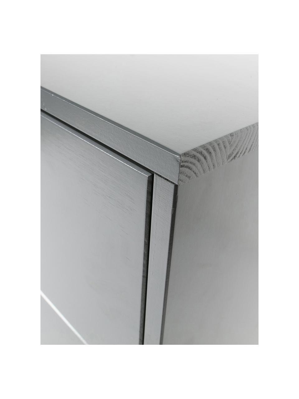 Cassettiera grigia Adam, Grigio acciaio, Larg. 94 x Alt. 93 cm