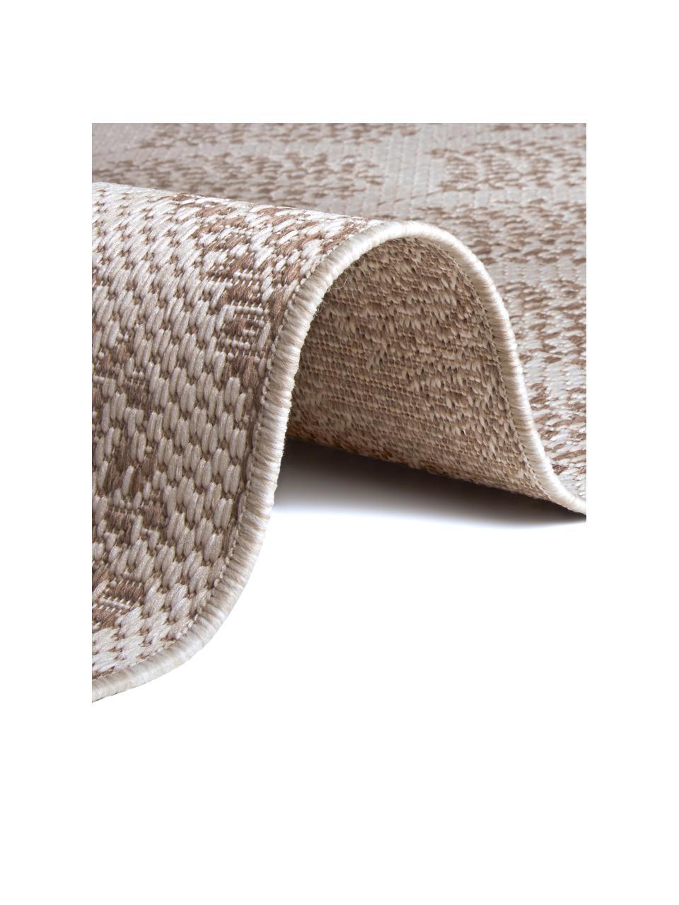 Gemusterter In- & Outdoor-Teppich Stan in Beige/Weiß, 100% Polypropylen, Hellbraun, Hellbeige, B 200 x L 290 cm (Größe L)