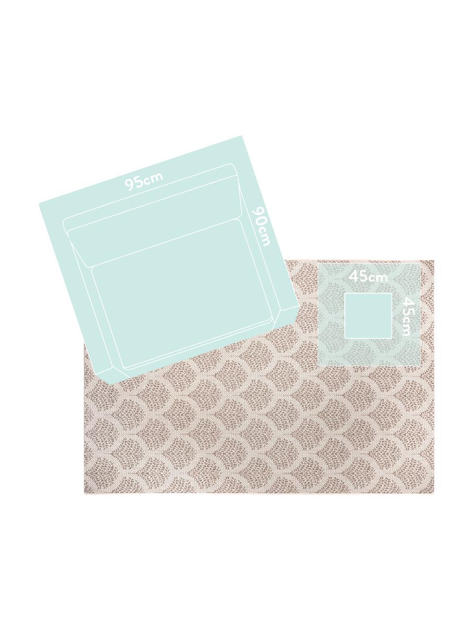 In- & outdoor vloerkleed met patroon Stan in beige/wit, 100% polypropyleen, Lichtbruin, lichtbeige, B 200 x L 290 cm (maat L)