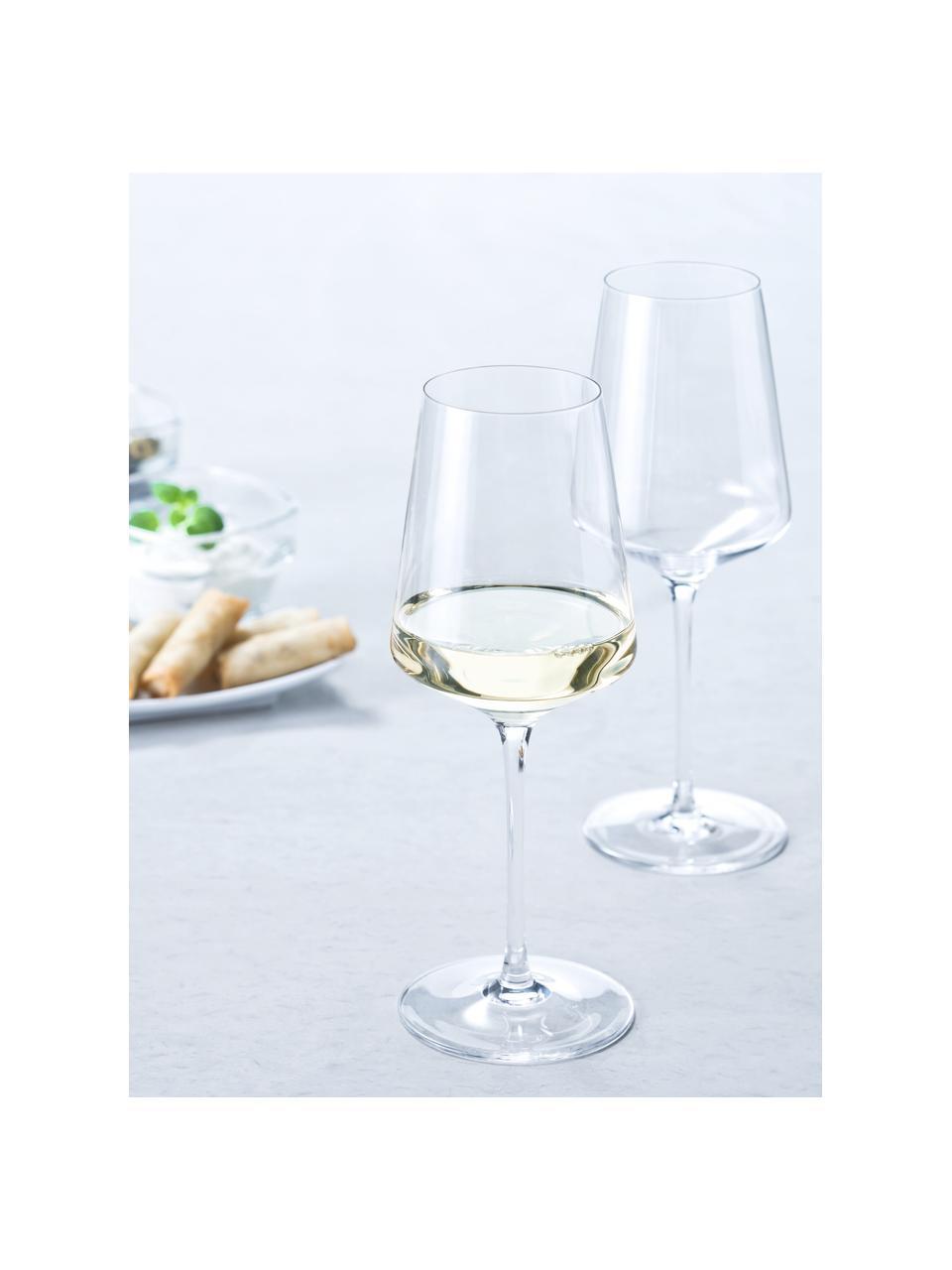 Weißweingläser Puccini, 6 Stück, Kristallglas, Transparent, Ø 10 x H 24 cm