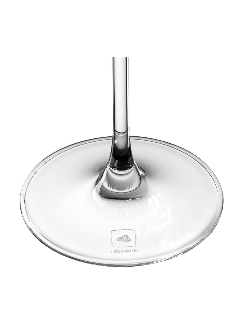 Witte wijnglazen Puccini, 6 stuks, Teqton®-glas, Transparant, Ø 10 x H 24 cm
