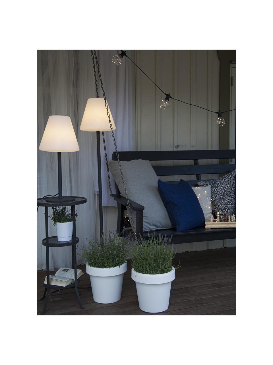 Venkovní stojací LED lampa se zástrčkou Gardenlight, Bílá, antracitová