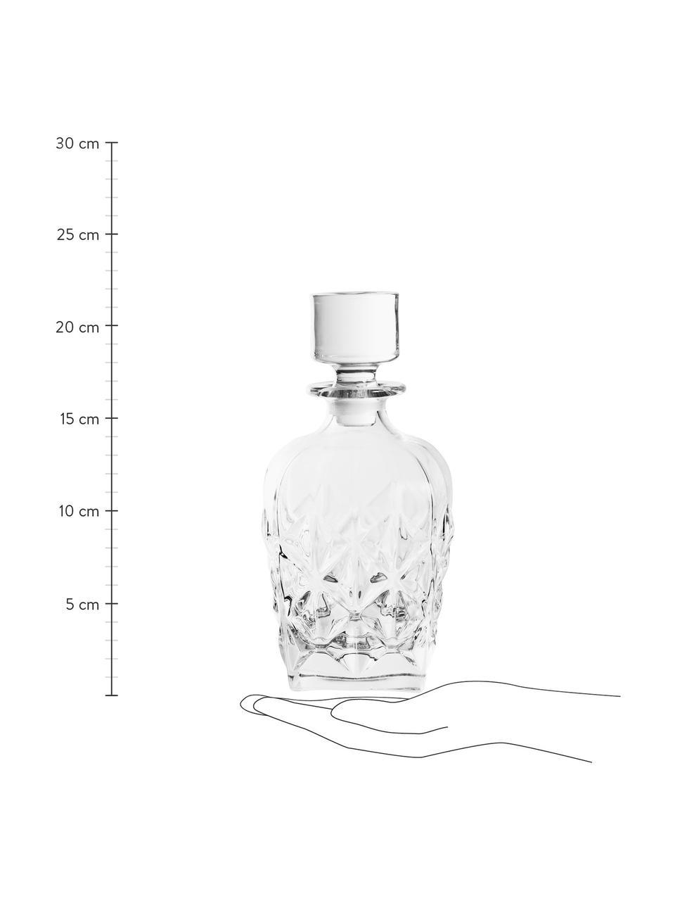 Carafe à décanter cristal avec bouchon Fine, 860ml, Transparent