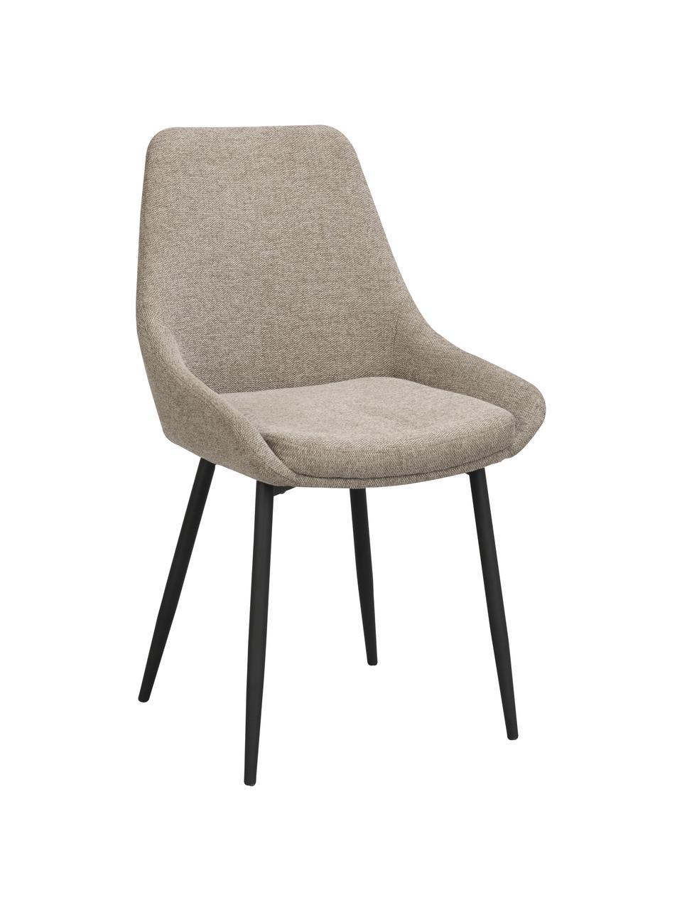Chaise beige rembourrée Sierra, 2pièces, Tissu beige