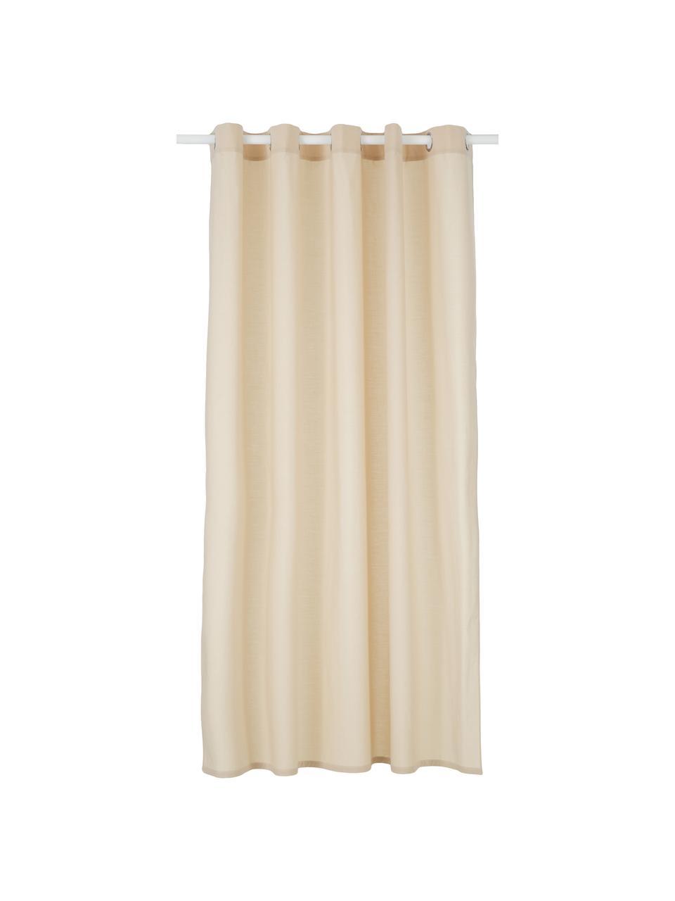 Rideau de douche en coton mélangé Coloris, Beige