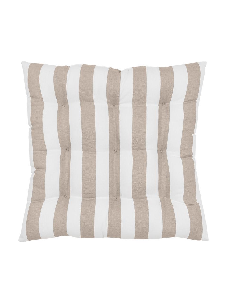 Poduszka na siedzisko Timon, Taupe, biały, S 40 x D 40 cm