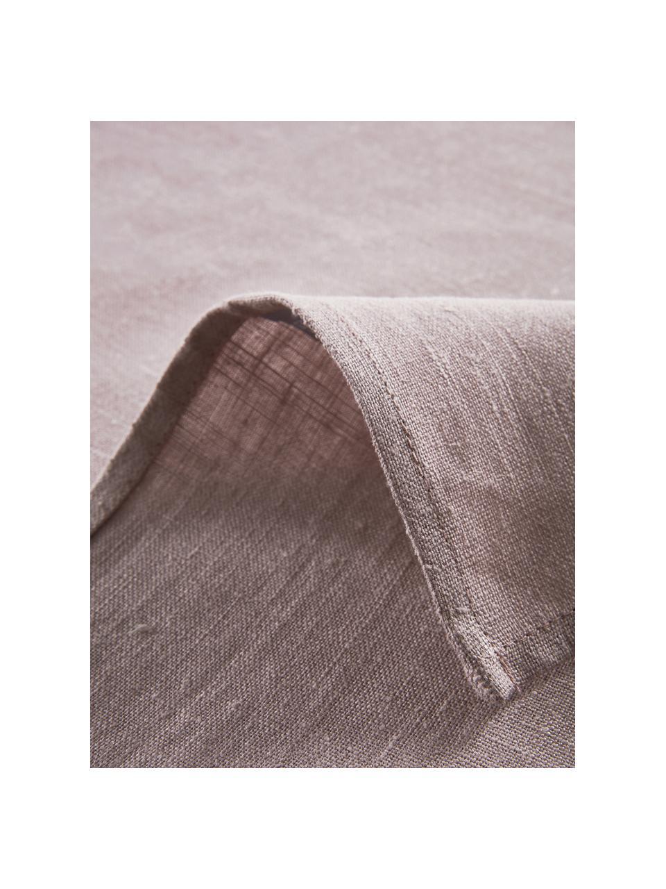 Leinen-Tischdecke Heddie in Rosa, 100% Leinen, Rosa, Für 6 - 10 Personen (B 145 x L 250 cm)