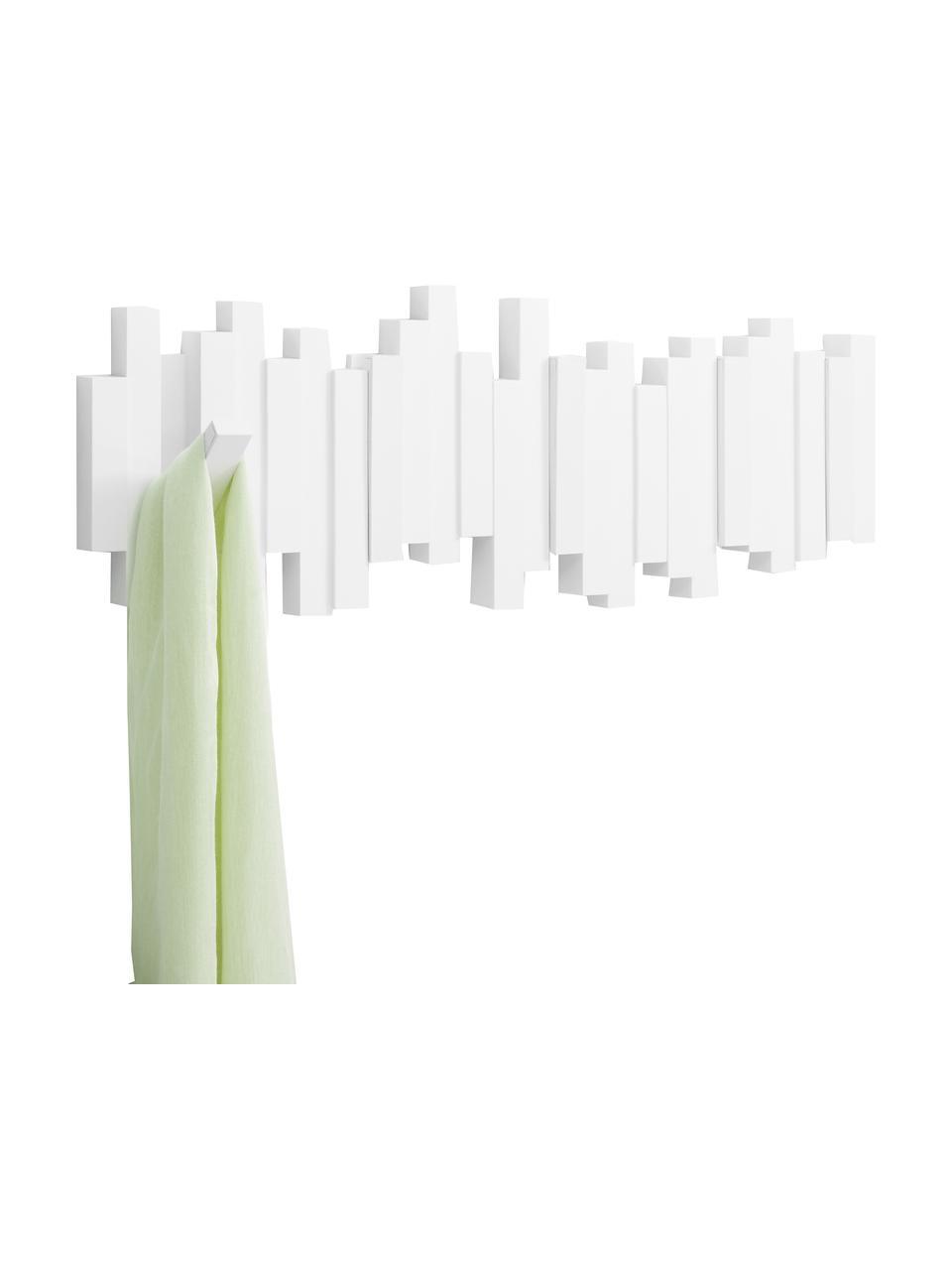 Garderobenhaken Sticks in Weiß, Kunststoff, Weiß, 48 x 18 cm